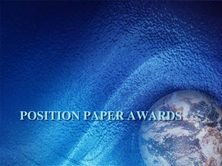 Position paper awards