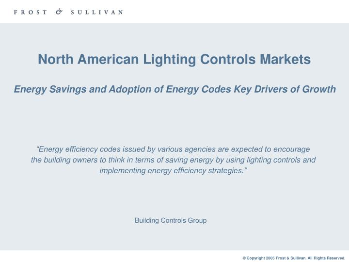 North American Lighting Controls Markets