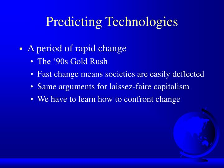 Predicting Technologies