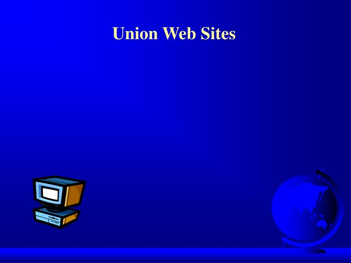 Union Web Sites