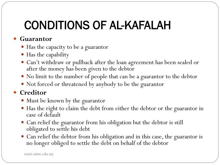 CONDITIONS OF AL-KAFALAH