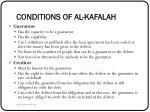 conditions of al kafalah