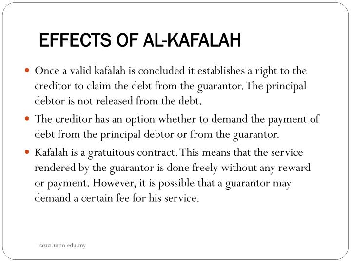 EFFECTS OF AL-KAFALAH