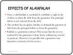 effects of al kafalah