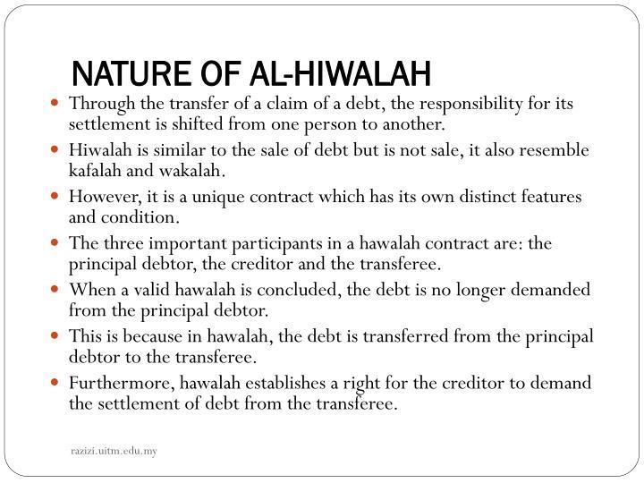 NATURE OF AL-HIWALAH
