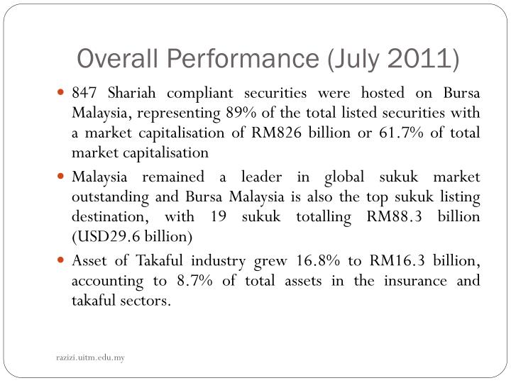 Overall Performance (July 2011)