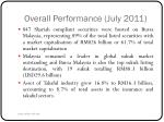 overall performance july 2011