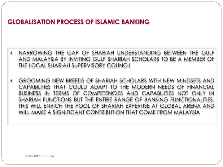GLOBALISATION PROCESS OF ISLAMIC BANKING