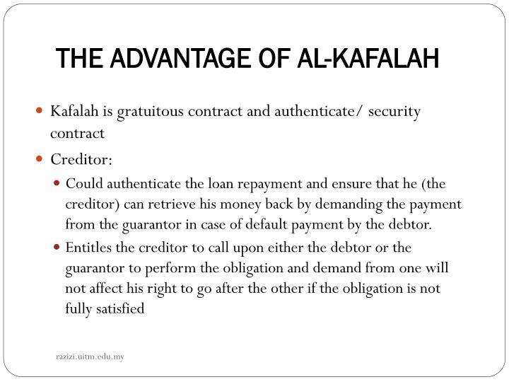 THE ADVANTAGE OF AL-KAFALAH
