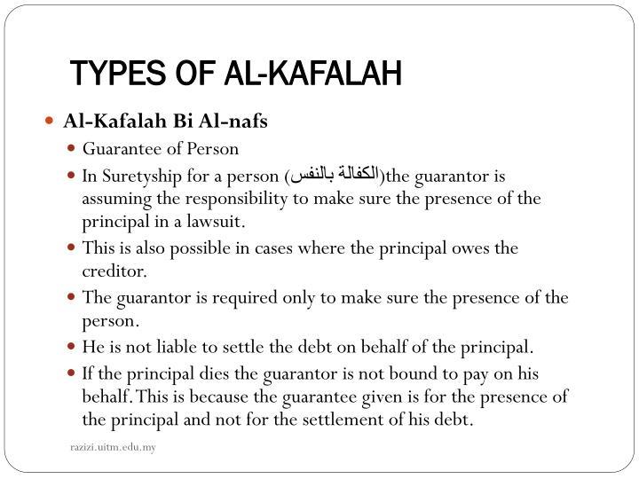 TYPES OF AL-KAFALAH
