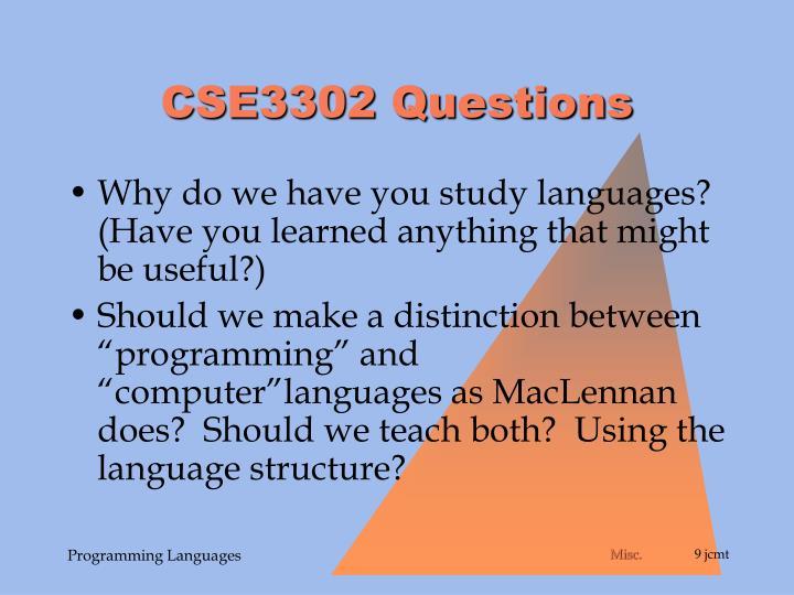 CSE3302 Questions