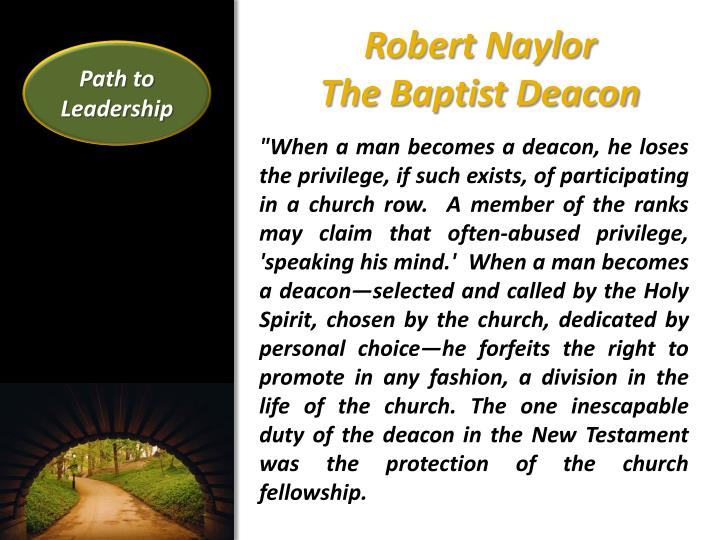Robert naylor the baptist deacon