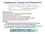 cons quences cliniques de l inflammation1