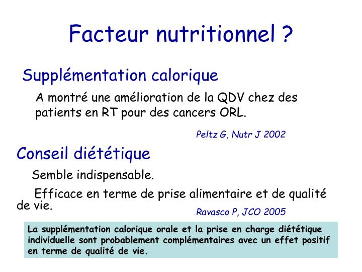 Facteur nutritionnel ?