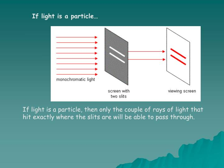 If light is a particle…