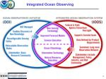 integrated ocean observing