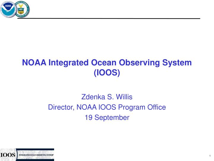 Noaa integrated ocean observing system ioos