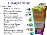 geologic change