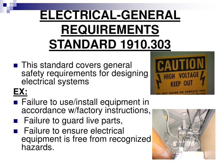 ELECTRICAL-GENERAL REQUIREMENTS