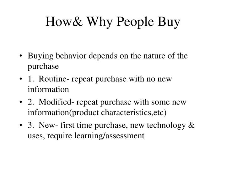 How& Why People Buy