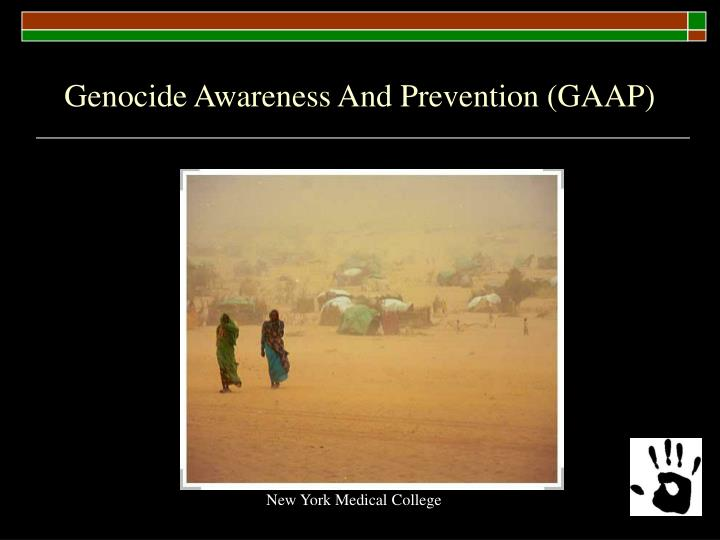 Genocide awareness and prevention gaap
