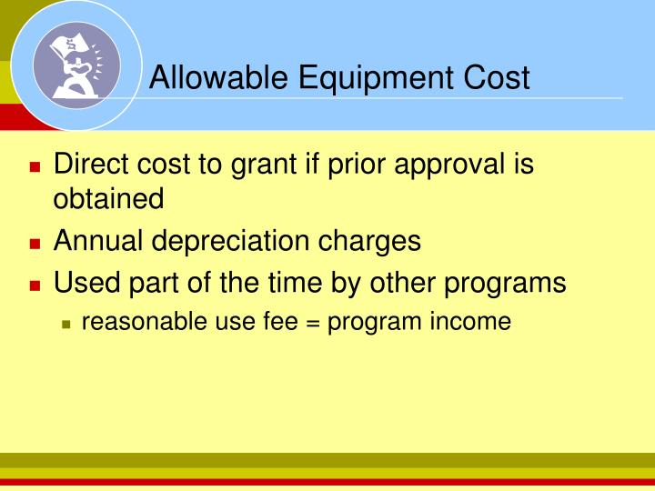 Allowable Equipment Cost