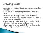 drawing scale