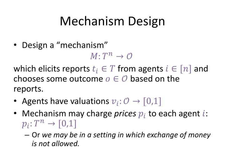 Mechanism Design