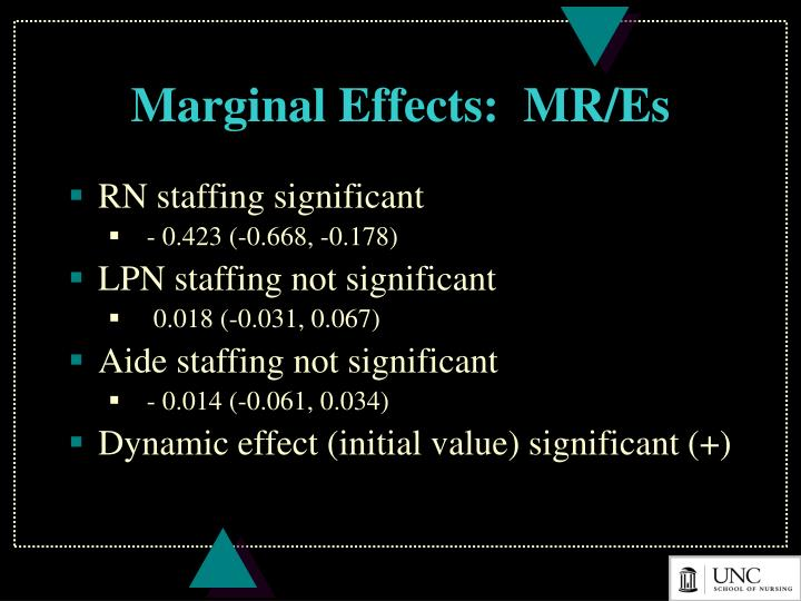 Marginal Effects:  MR/Es