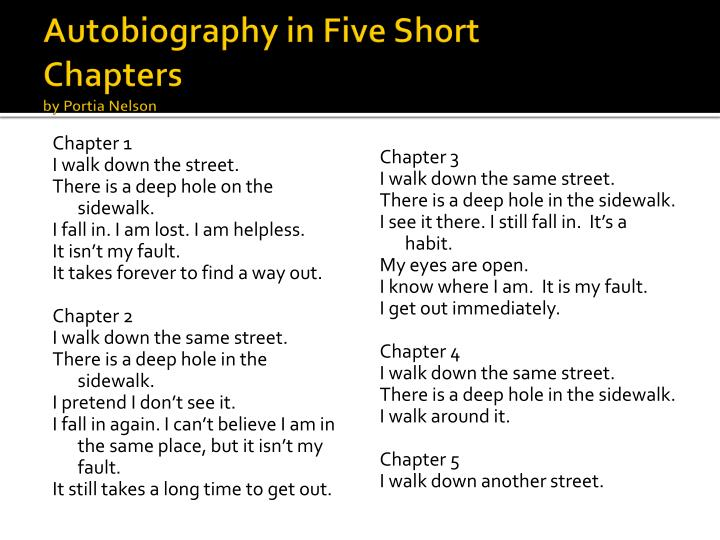 Autobiography in Five Short