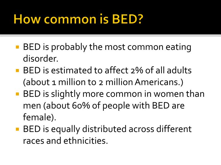 How common is BED?