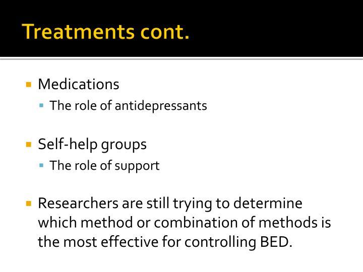 Treatments cont.