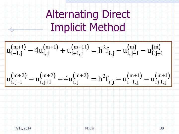 Alternating Direct
