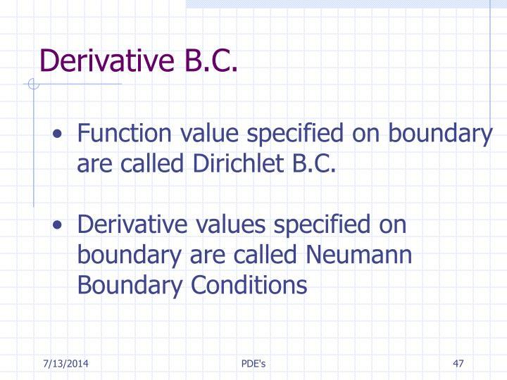 Derivative B.C.