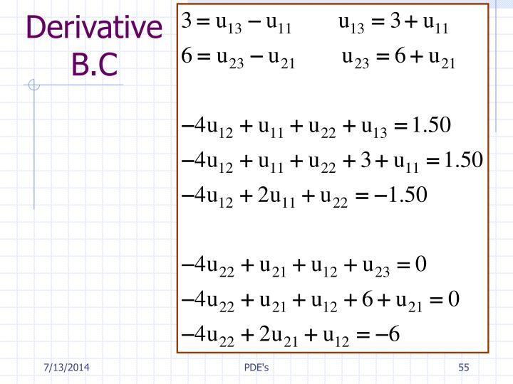 Derivative B.C