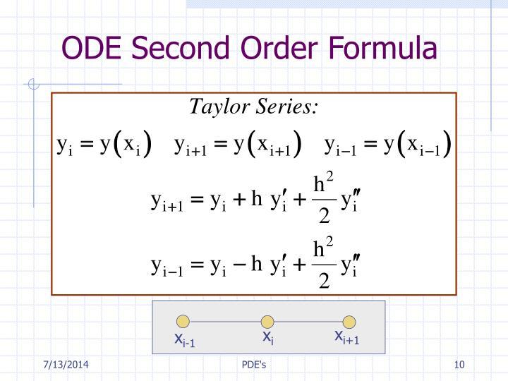 ODE Second Order Formula
