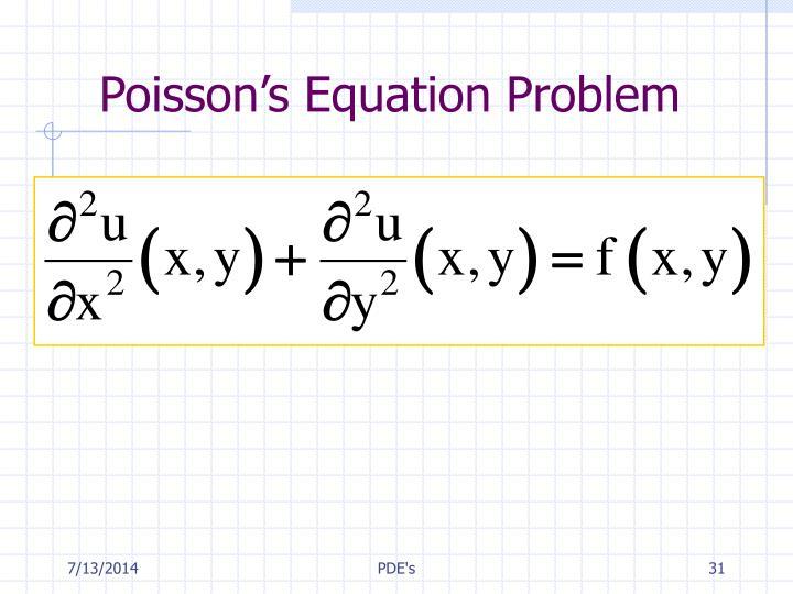 Poisson's Equation Problem