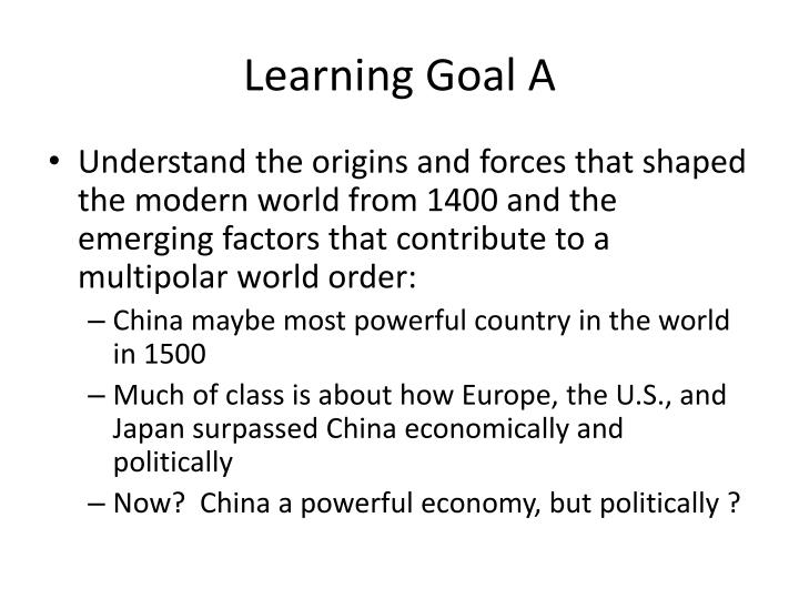 Learning Goal A