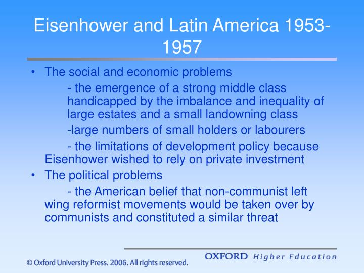 Eisenhower and Latin America 1953-1957