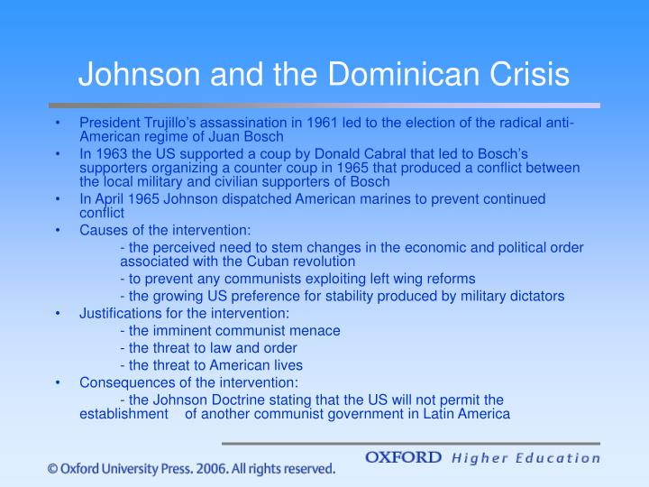 Johnson and the Dominican Crisis