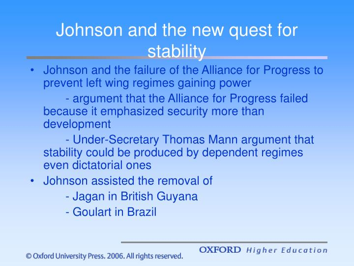 Johnson and the new quest for stability