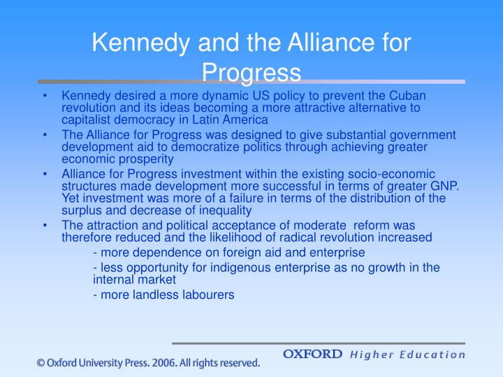 Kennedy and the Alliance for Progress