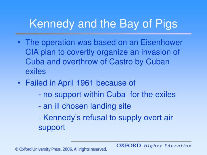 Kennedy and the Bay of Pigs