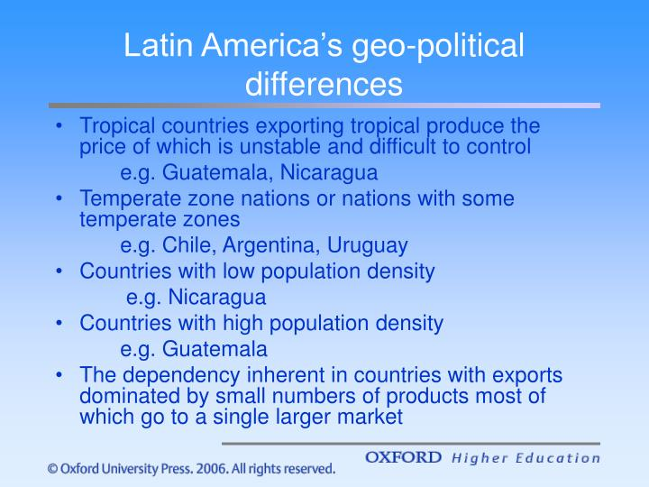 Latin america s geo political differences