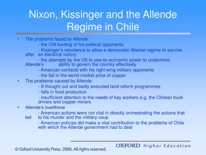 Nixon, Kissinger and the Allende Regime in Chile