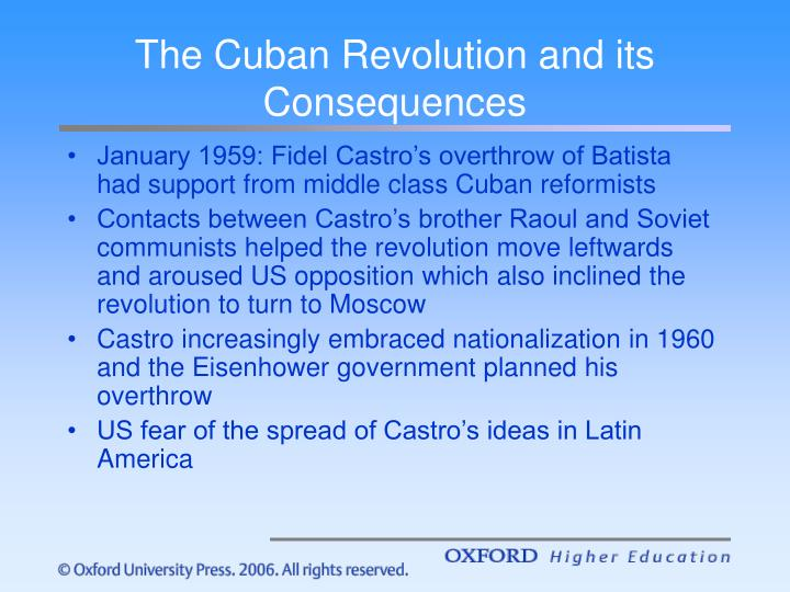 The Cuban Revolution and its Consequences