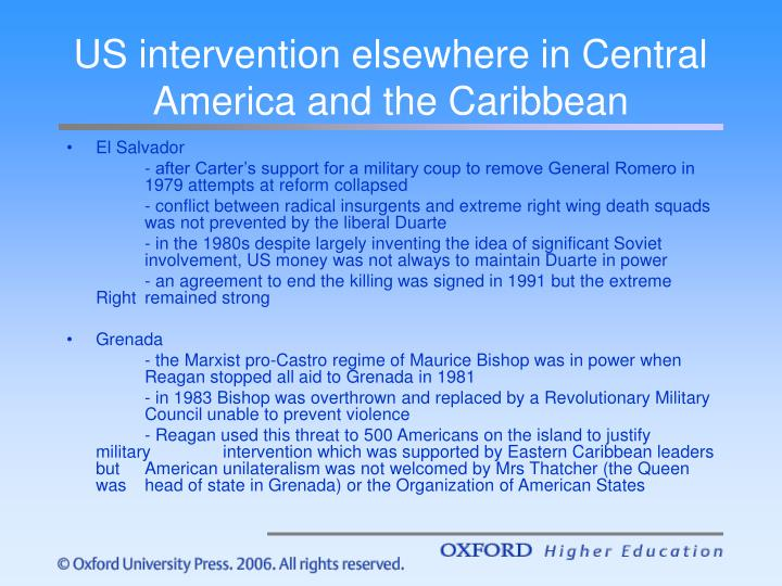 US intervention elsewhere in Central America and the Caribbean