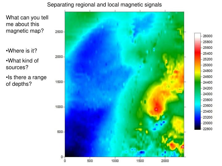 Separating regional and local magnetic signals