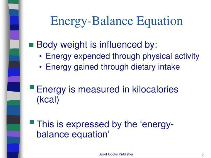 Energy-Balance Equation