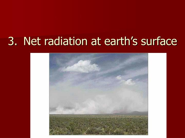 Net radiation at earth's surface